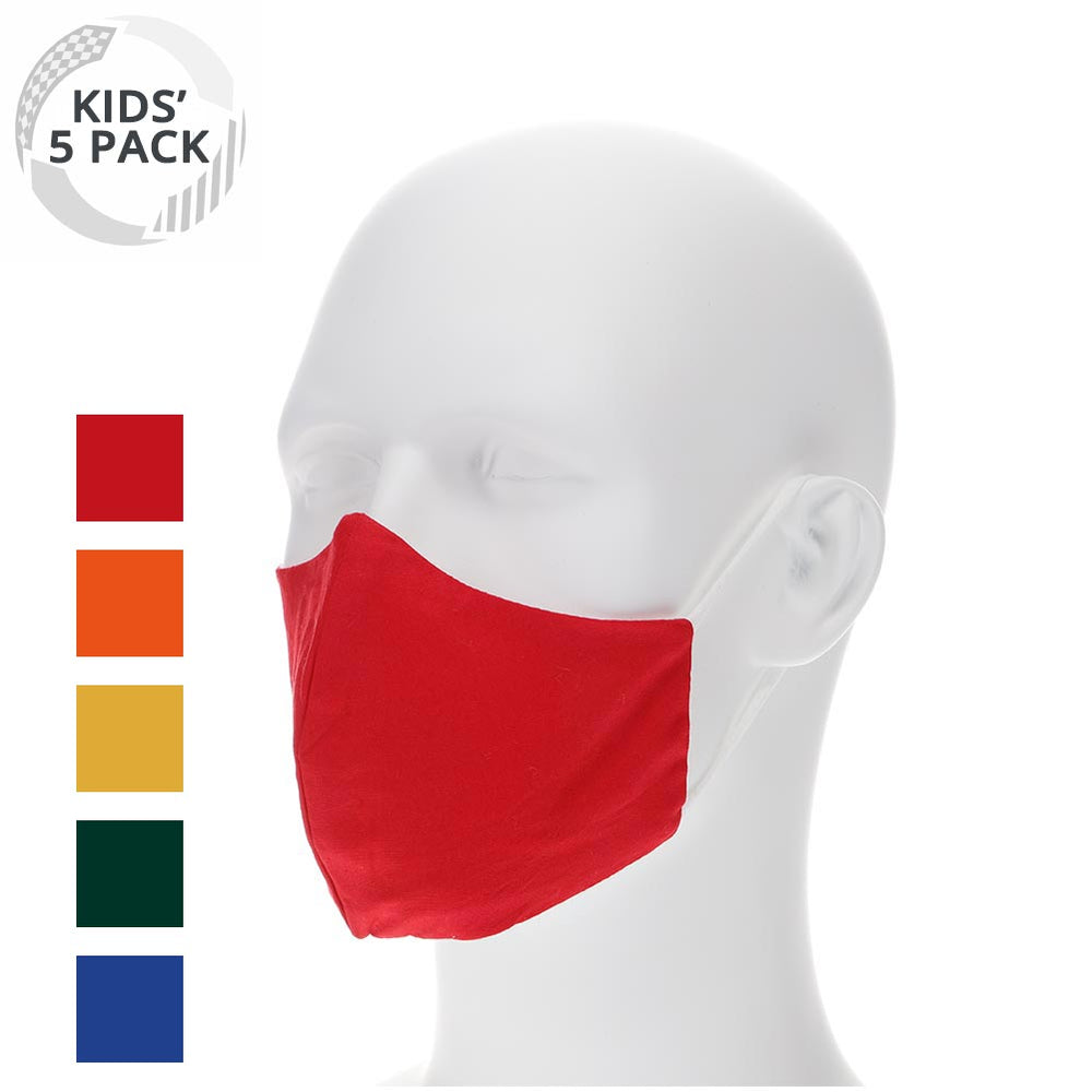 5 pack kids colorful cloth face masks
