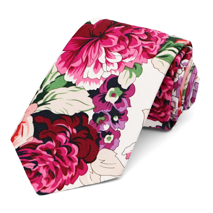 Kingsburg Floral Cotton Narrow Necktie