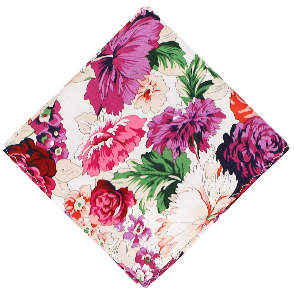 Kingsburg floral pattern pocket square