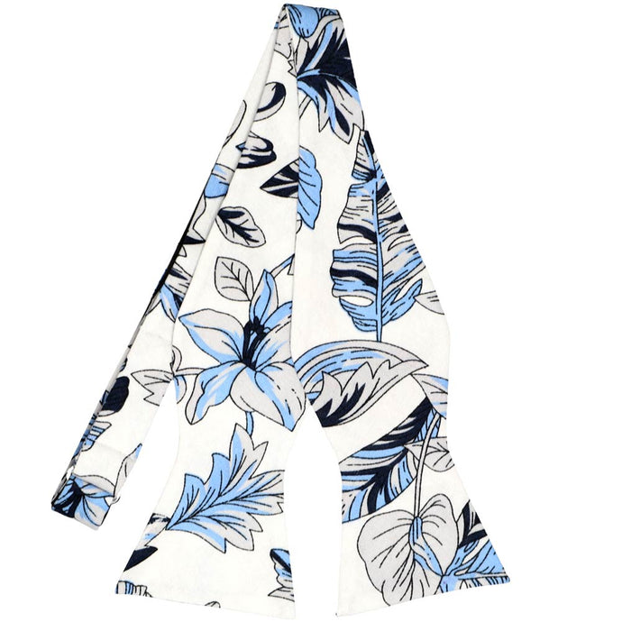 Lahaina Floral Cotton Self-Tie Bow Tie