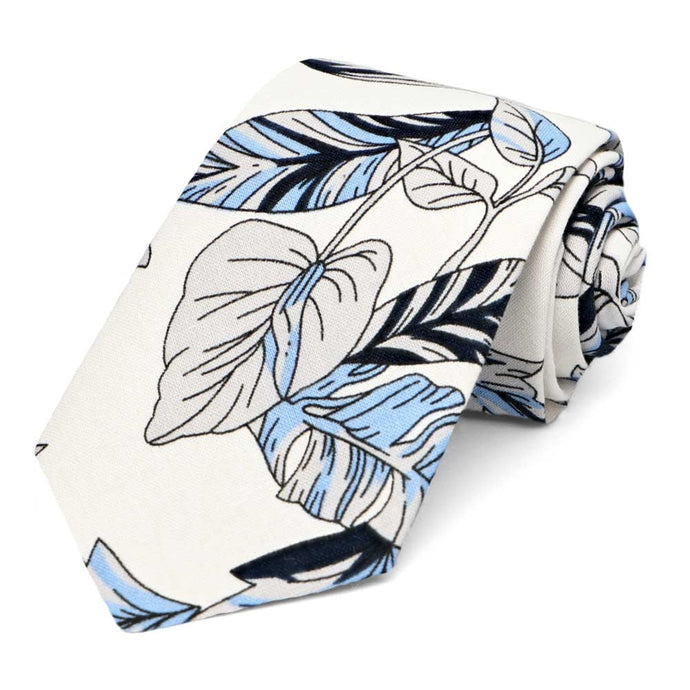 Lahaina Floral Cotton Narrow Necktie