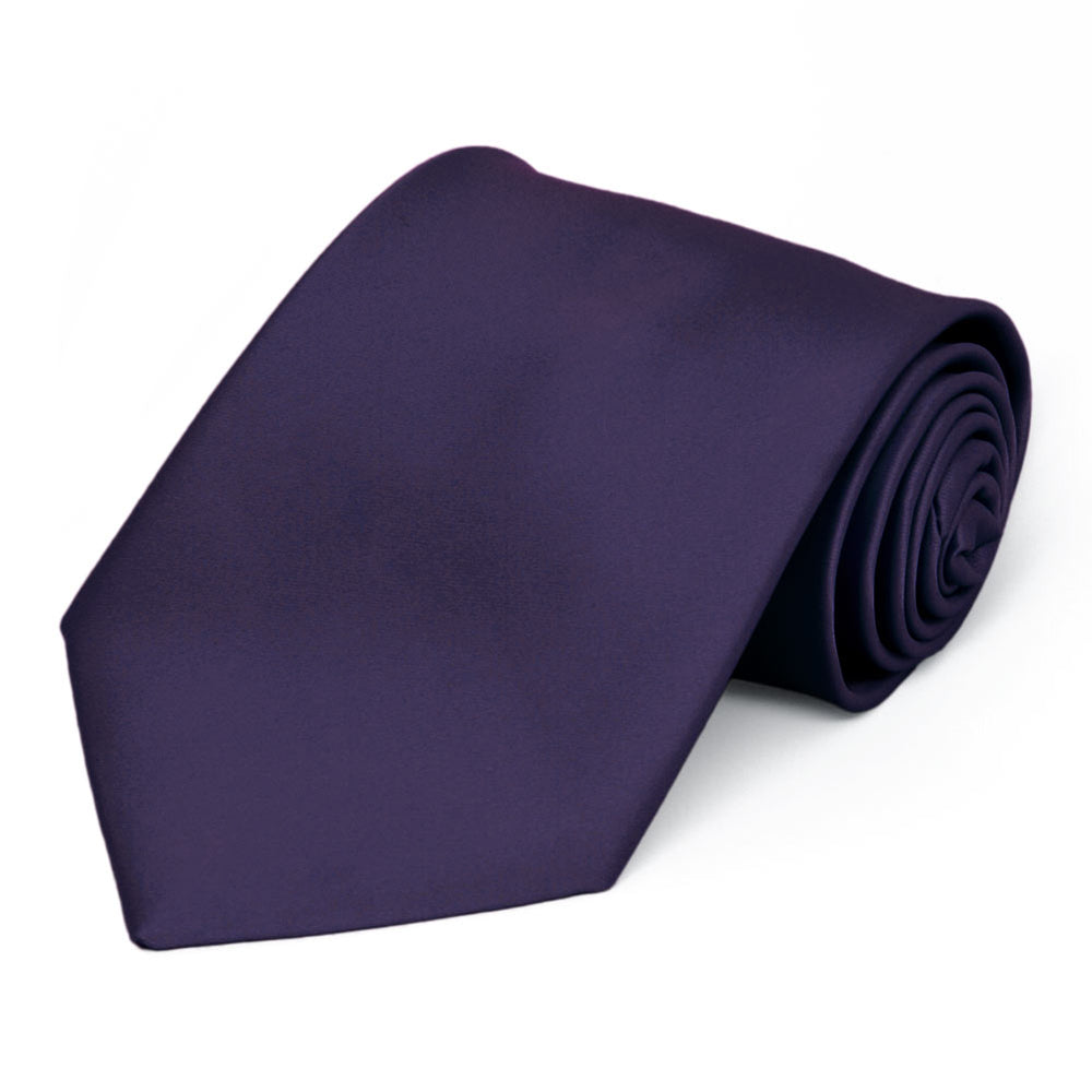 Lapis Purple Premium Solid Color Necktie
