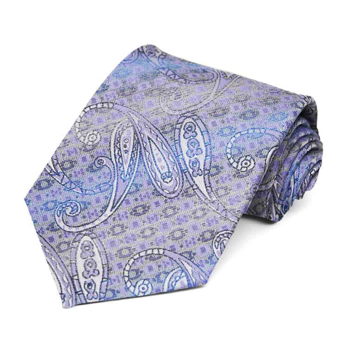 Light Purple Bonnie Paisley Necktie