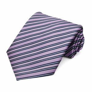 Lavender Alice Striped Necktie