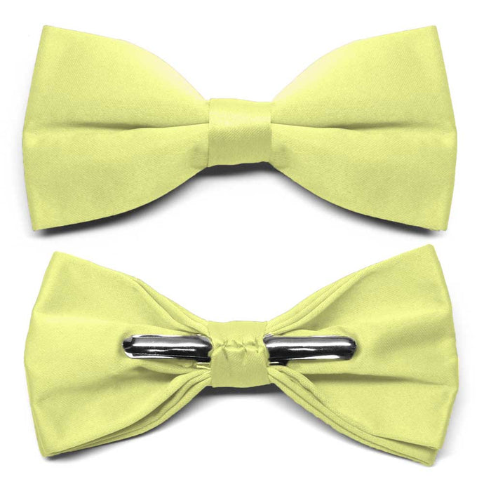Lemon Lime Clip-On Bow Tie