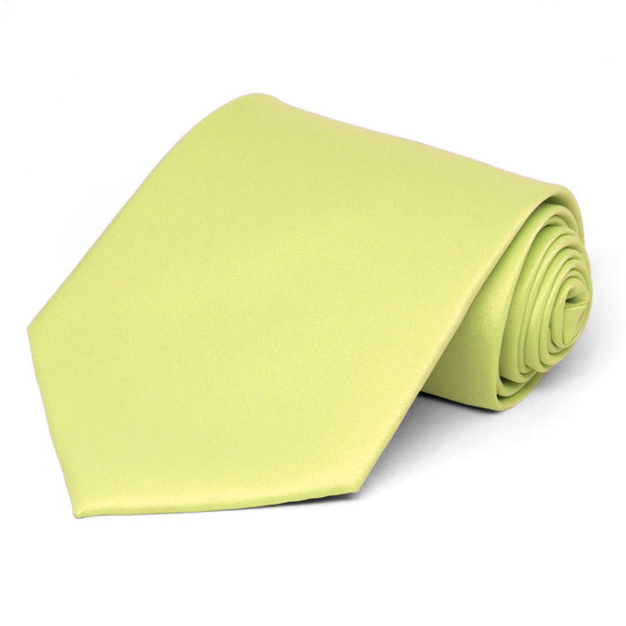 Lemon Lime Solid Color Necktie