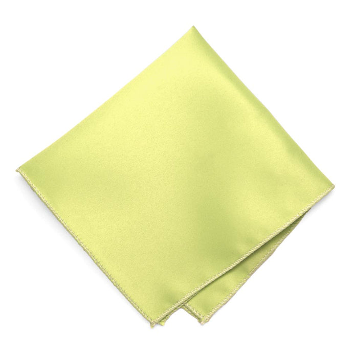 Lemon Lime Solid Color Pocket Square