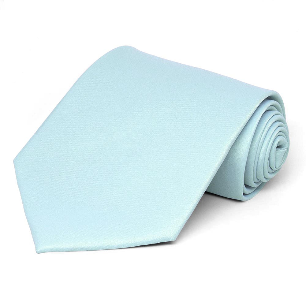 Light Blue Solid Color Necktie