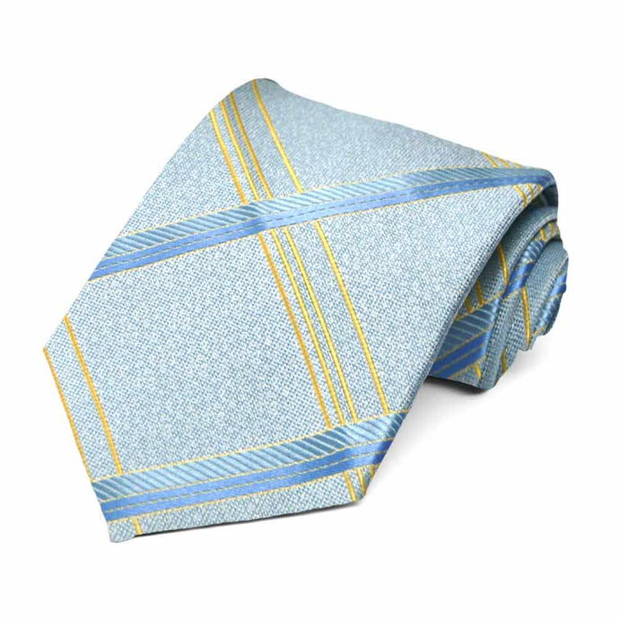 Light Blue Fresno Plaid Necktie