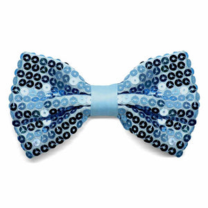 Light Blue Sequin Bow Tie