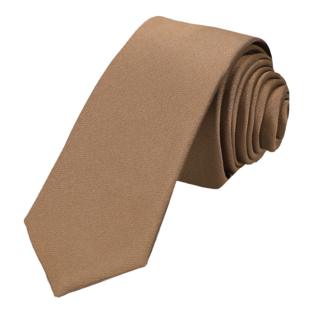Light Brown Skinny Necktie, 2