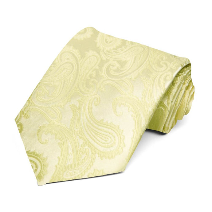 Light Citron Sutter Paisley Necktie