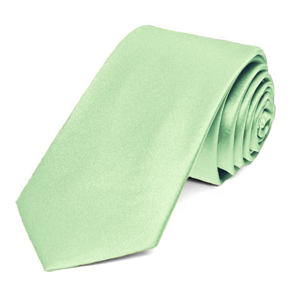 Light Mint Silk Slim Necktie