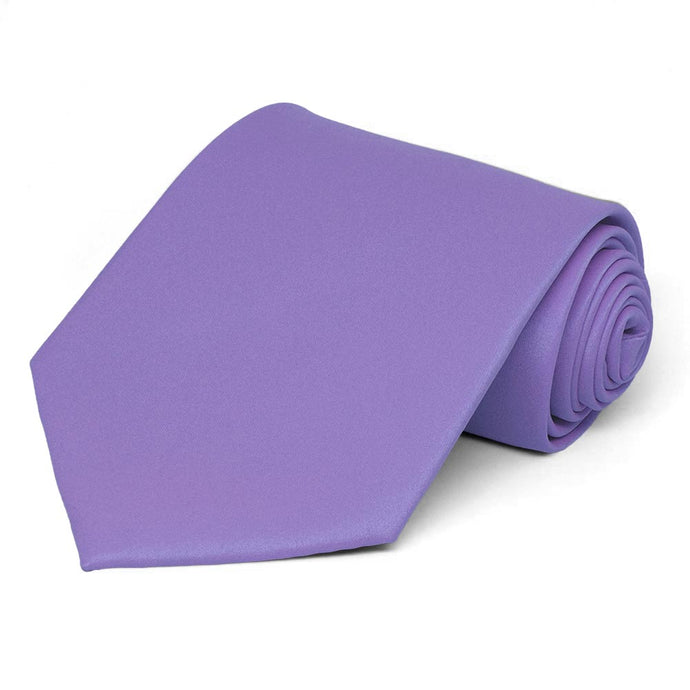 Light Purple Solid Color Necktie