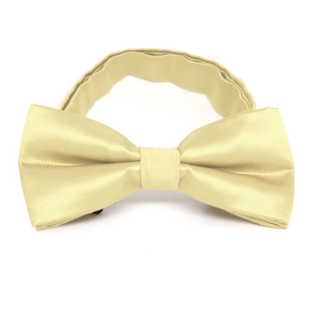 Light Yellow Band Collar Bow Tie