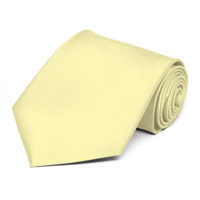 Light Yellow Solid Color Necktie