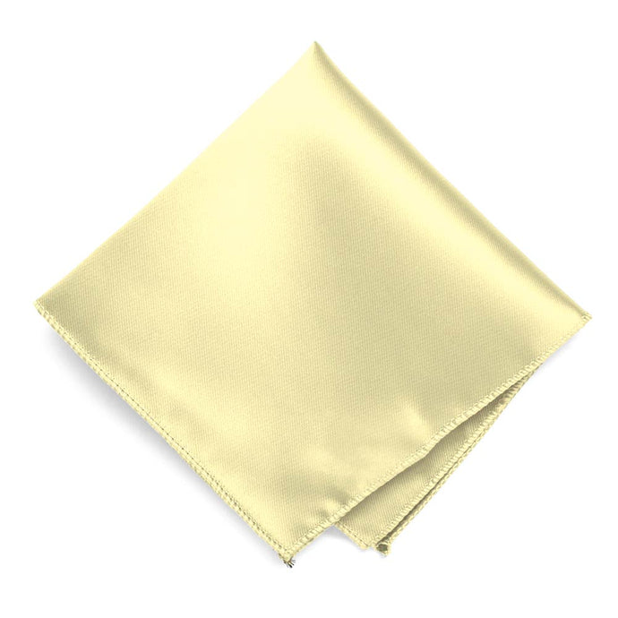 Light Yellow Solid Color Pocket Square