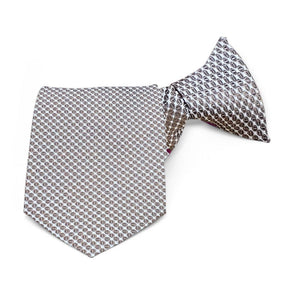 Light Brown Henry Grain Pattern Clip-On Tie