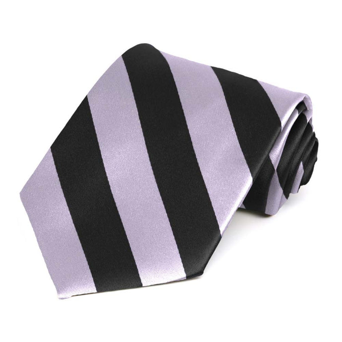 Lilac and Black Striped Tie