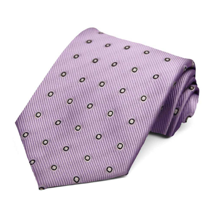 Lavender Willoughby Dotted Necktie