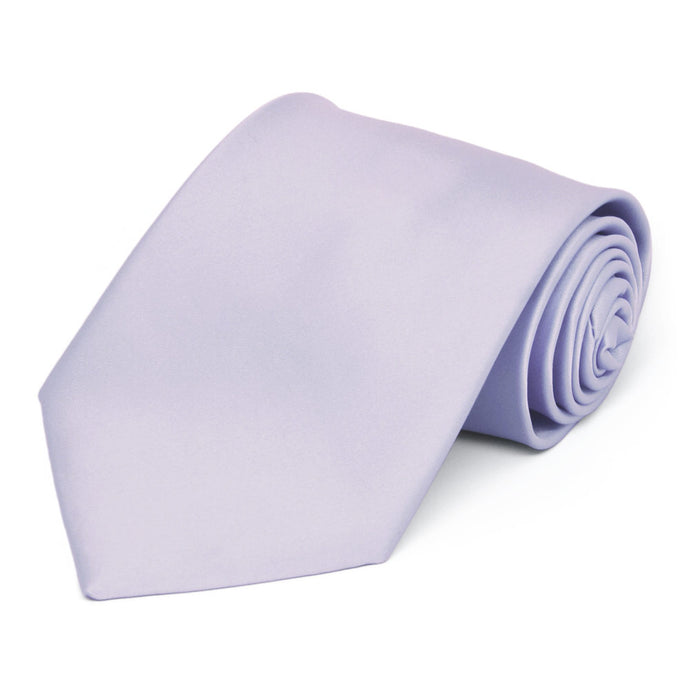 Lilac Premium Extra Long Solid Color Necktie