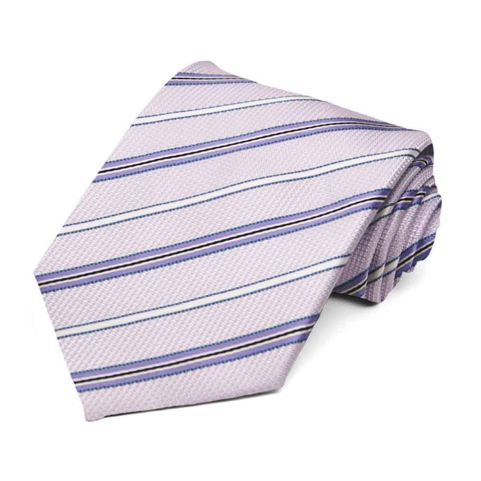Thistle Purple Hartwell Striped Necktie