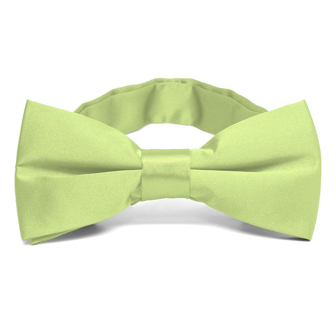 Lime Green Band Collar Bow Tie