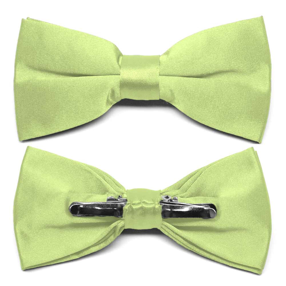 Lime Green Clip-On Bow Tie