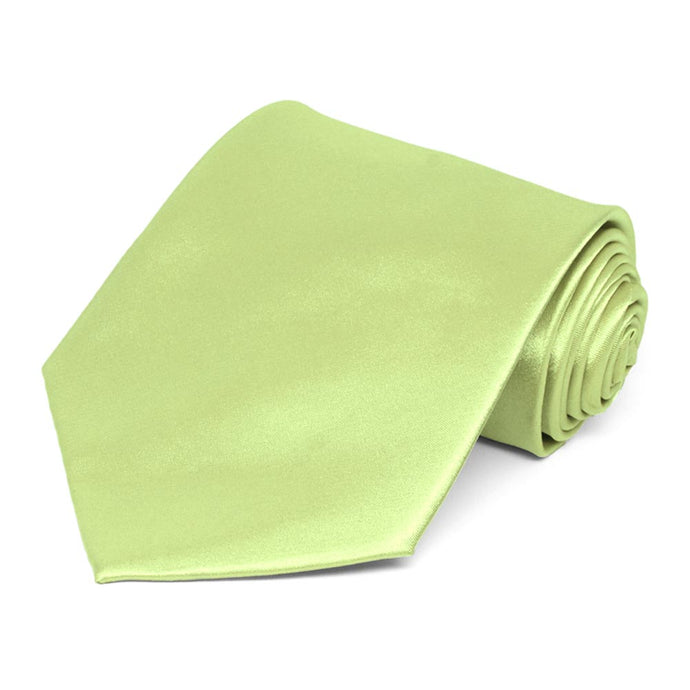 Lime Green Extra Long Solid Color Necktie