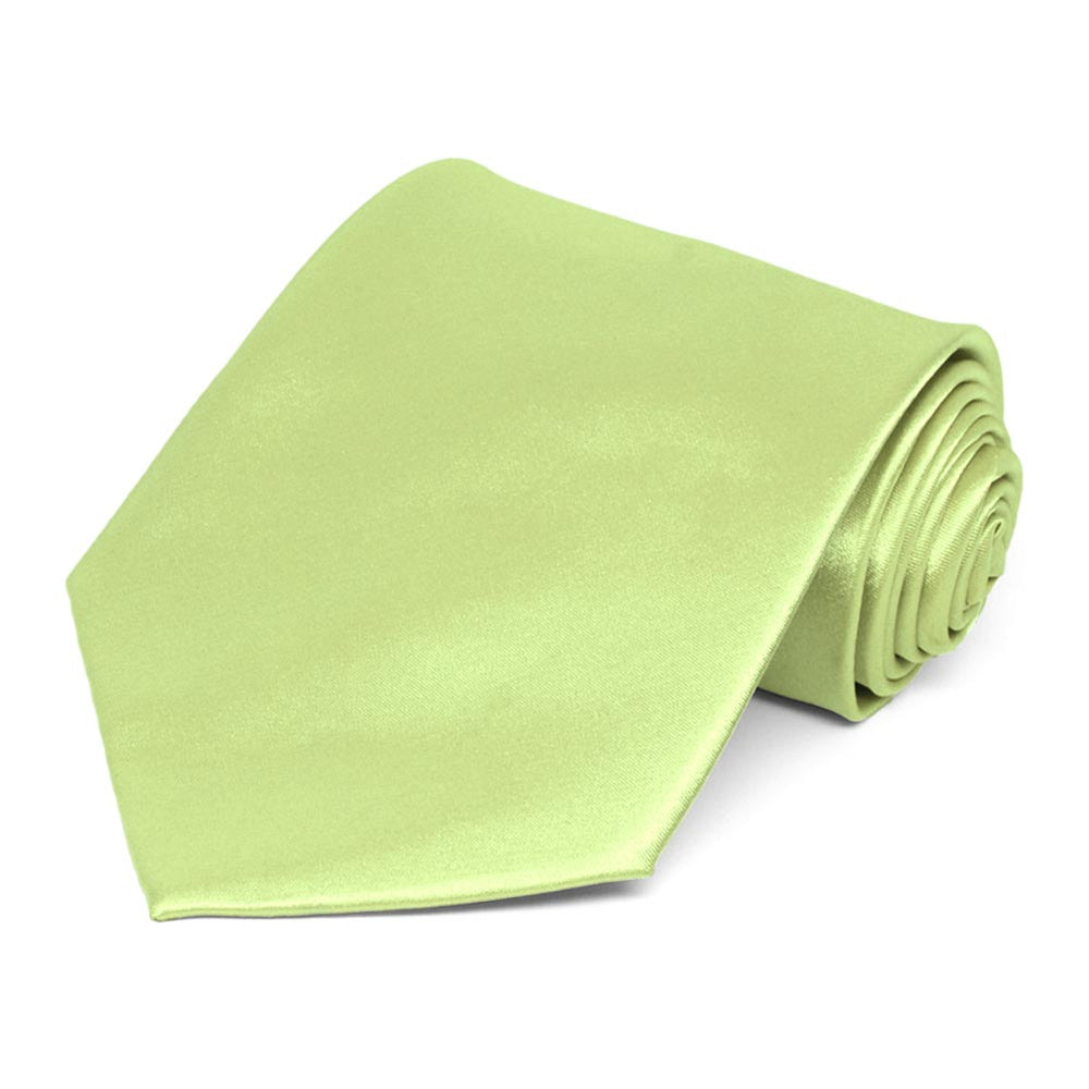 Lime Green Solid Color Necktie