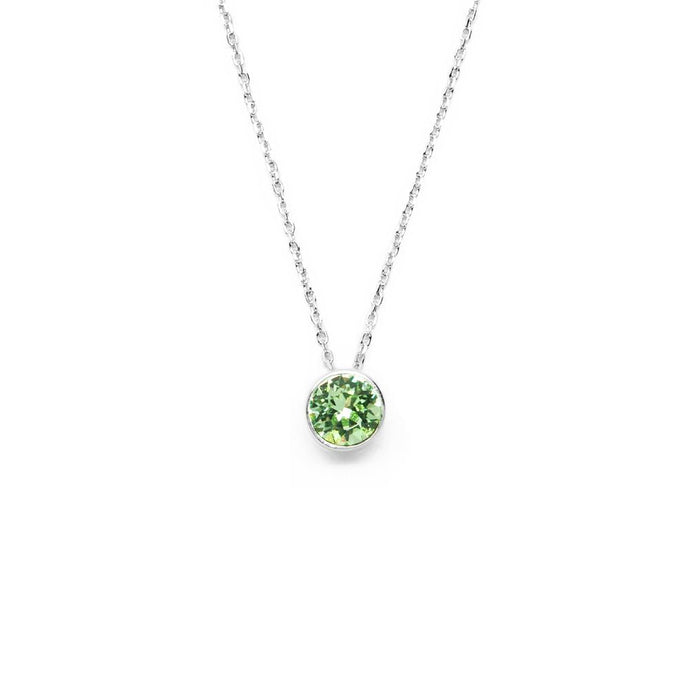 Lime Green Round Crystal Necklace