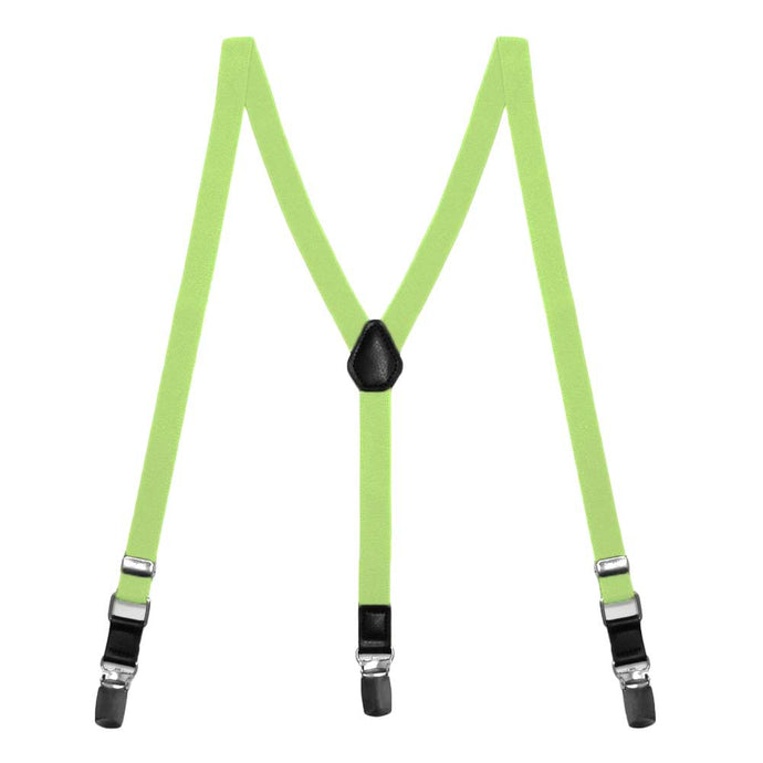 Lime Green Skinny Suspenders