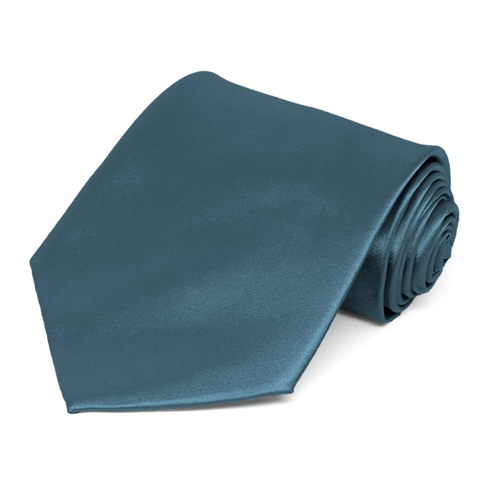 Loch Blue Solid Color Necktie