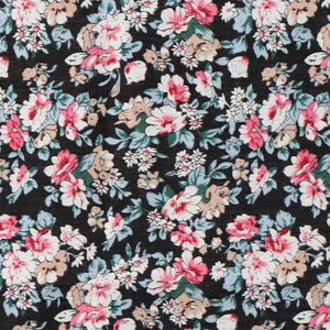 Black floral fabric
