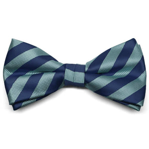 Marine Blue Formal Striped Bow Tie
