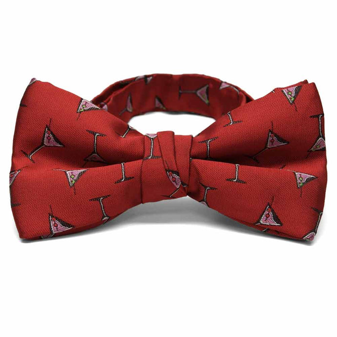 Martini in a cup theme on a red bow tie.