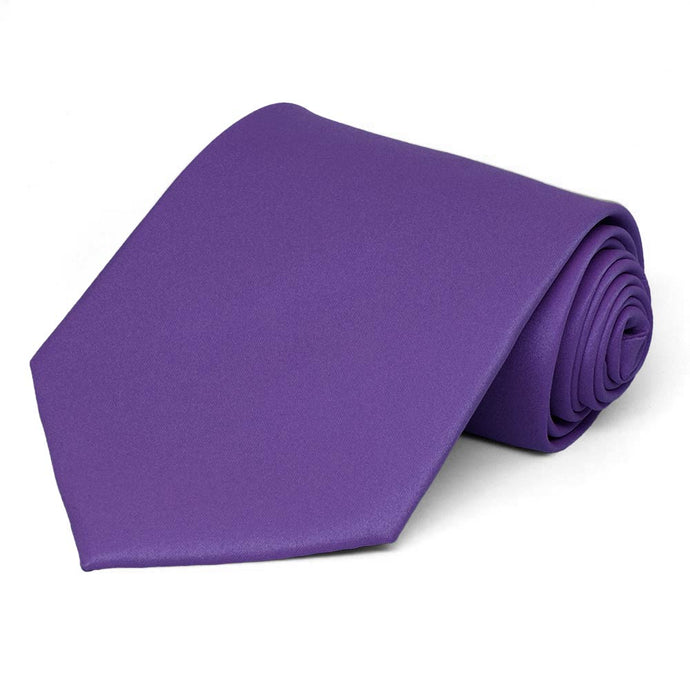 Medium Purple Solid Color Necktie