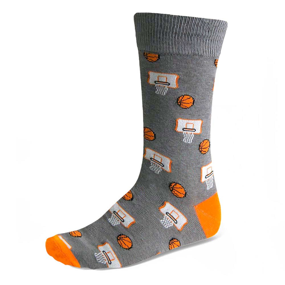 Men's Gray Basketball Socks