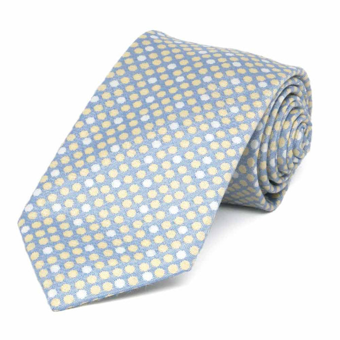 Powder Blue Socialite Dot Cotton/Silk Necktie, 3