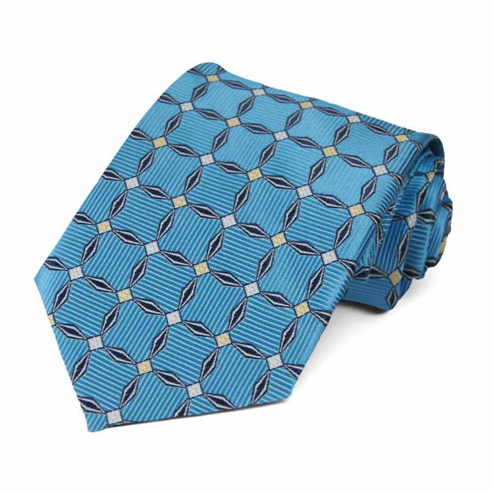 Dark Cornflower Winslow Geometric Necktie