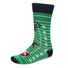 Load image into Gallery viewer, Football field themed crew socks