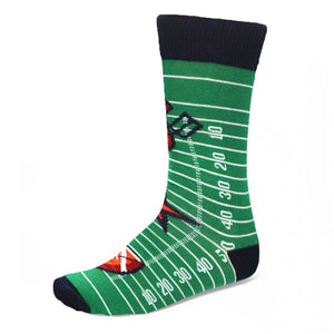 Football field themed crew socks