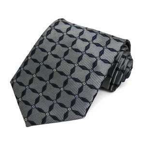 Gray Winslow Geometric Necktie