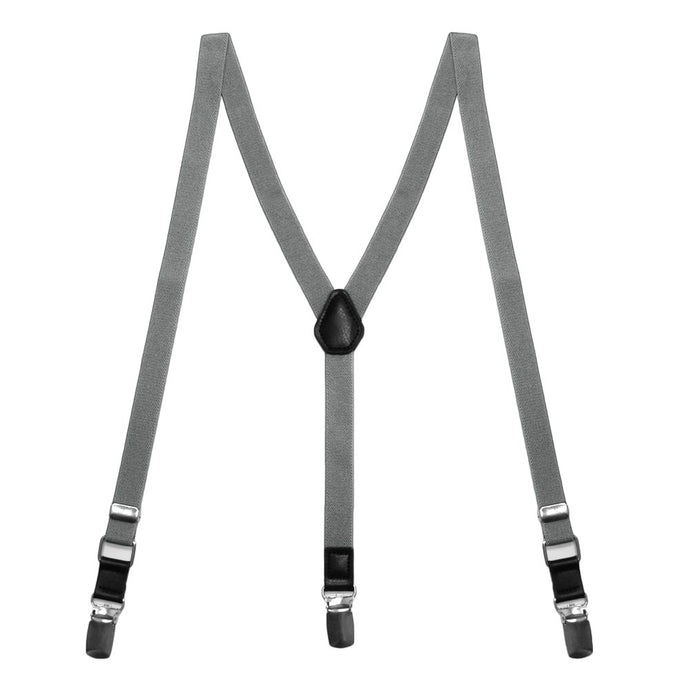 Gray Skinny Suspenders
