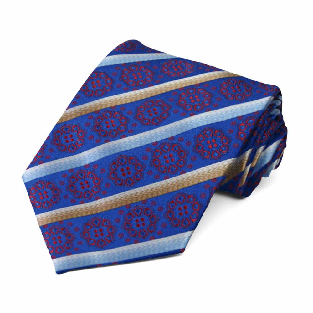 Horizon Blue Mesa Medallion Stripe Necktie