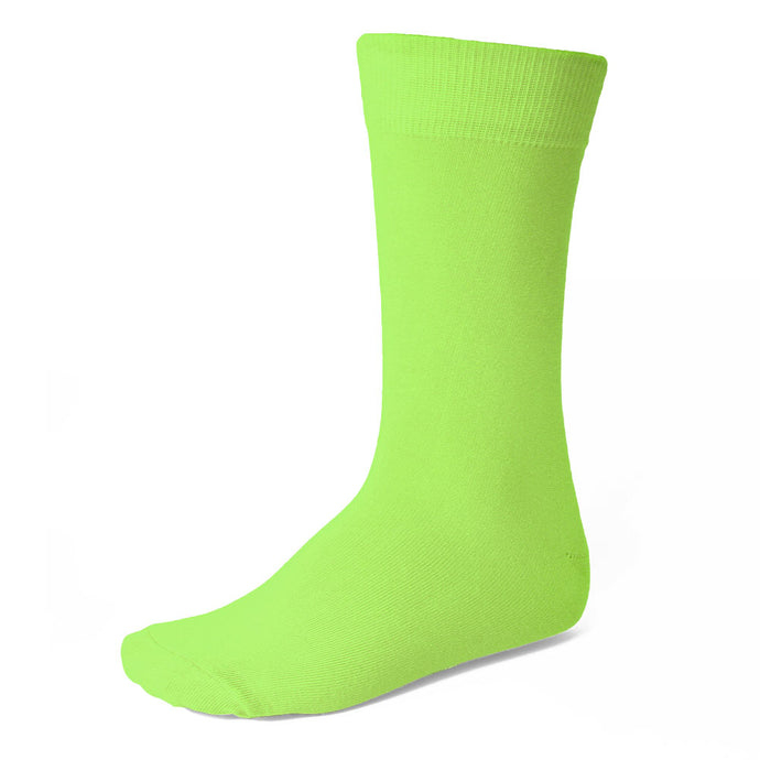 Men's Hot Lime Green Socks