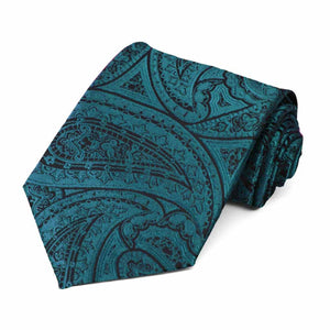 Ink Blue Shelton Paisley Necktie