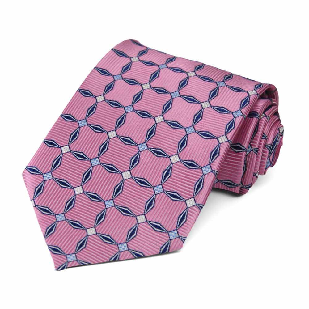 Antique Pink Winslow Geometric Necktie