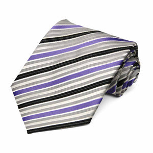 Purple Washington Striped Necktie