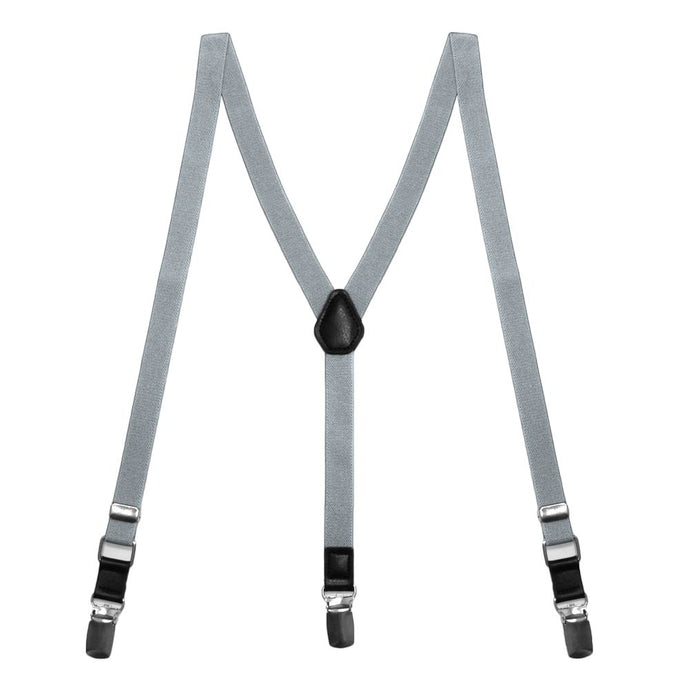 Shark Gray Skinny Suspenders